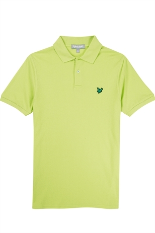 Picture of Lyle and Scott Green Eagle Pique Polo - Marathon