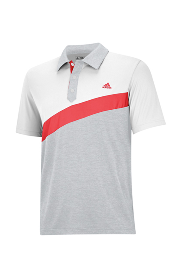4f8acb988e93 Picture of Adidas zns Angular Colour Blocked Polo - White Light Grey  Heather Bright