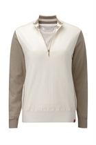 Picture of Ping Collection Mimi 1/2 Zip Sweater - Cloud/Tawny