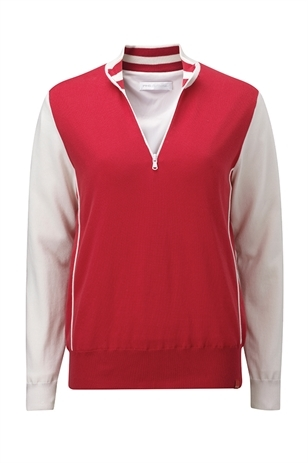 Picture of Ping Collection Mimi 1/2 Zip Sweater - Red/Cloud