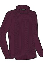 Picture of Glenmuir NOPIC Cleo Turtle Neck Sweater - Black/Grape