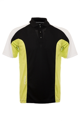 Picture of Ping Collection Luxley Polo Shirt - Black/Soft Green