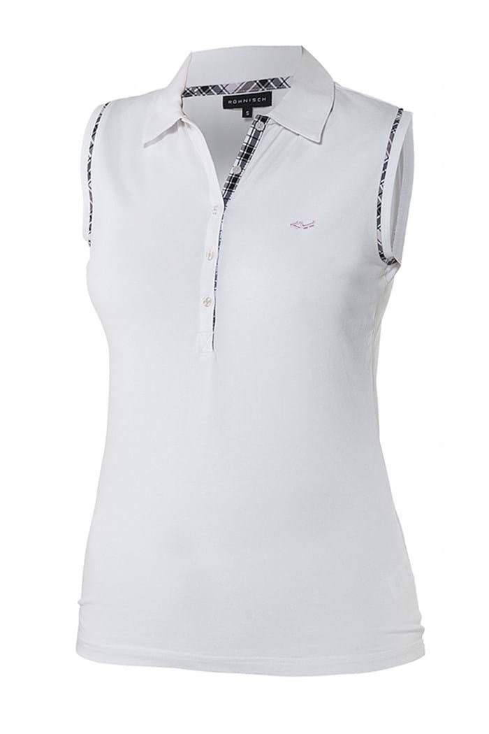 Rohnisch Zns Ruth Sleeveless Polo Shirt White Rohnisch