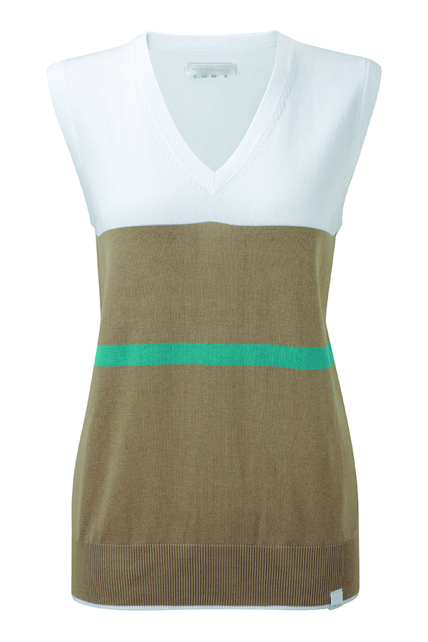 Picture of Ping Collection Peggy Tank Top/Slipover - White/Clay