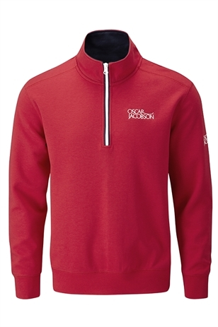 Picture of Oscar Jacobson Bradley Tour Sweater - Red