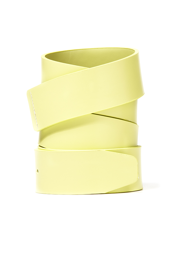 Picture of Oakley Leather Belt Strap - Pastel Yellow