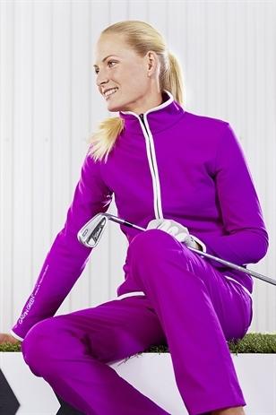 Picture of Galvin Green Ladies Debbie Jacket - Purple Rain/White