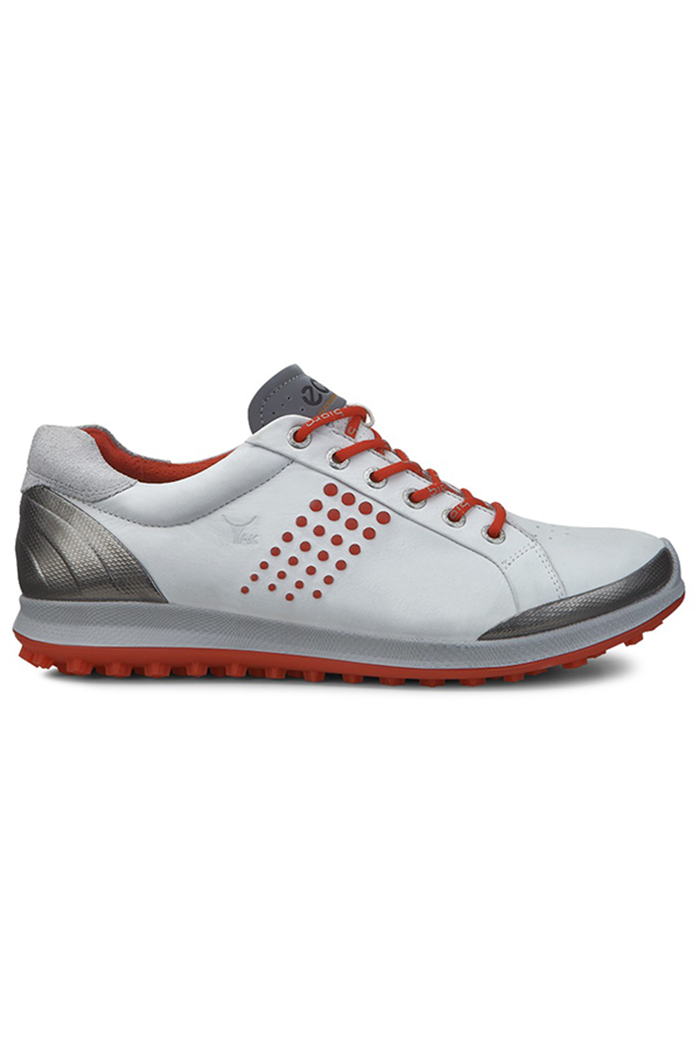 e956fb6c1d2c ECCO ZNS Men s Golf Biom Hybrid 2 Golf Shoes - White   Fire - Ecco ...