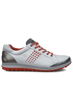 Picture of ECCO ZNS Men's Golf Biom Hybrid 2 Golf Shoes - White/Fire