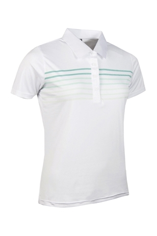 Picture of Glenmuir Arabella Stripe Polo Shirt - White/Spearmint