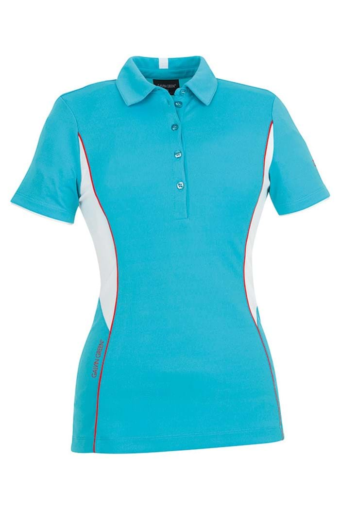 Picture of Galvin Green zns Millie Golf Shirt - Angel Blue/White
