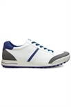 Picture of Ecco Mens Golf Street Shoes - White/Titanium/Royal