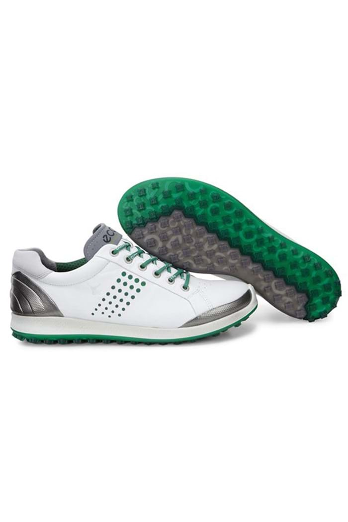 Ecco Zns Men S Golf Biom Hybrid 2 Golf Shoes White Pure Green Ecco Eureka Golf