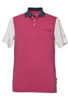 Picture of Oscar Jacobson Brody Polo shirt - Raspberry/White/Navy - LAST FEW