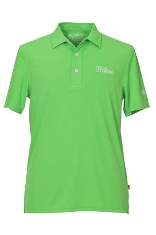 Picture of Oscar Jacobson Collin Tour Polo Shirt - Bright Green 823 - LAST ONE