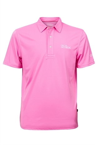 Picture of Oscar Jacobson Collin Tour Polo Shirt - Bright Pink 690 - LAST FEW