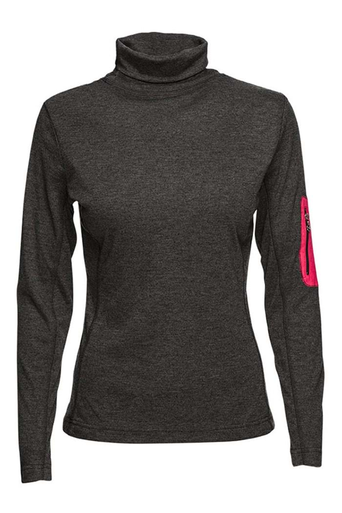 Picture of Daily Sports ZNS Adela Long Sleeve Mock Neck - Rock - LAST ONE XL