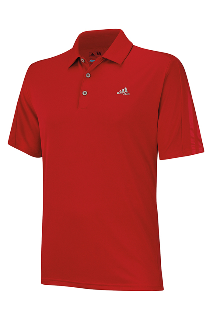 b85503873bfa Picture of Adidas ZNS Climacool Classic Debos 3 Stripe Polo Shirt - Power  Red