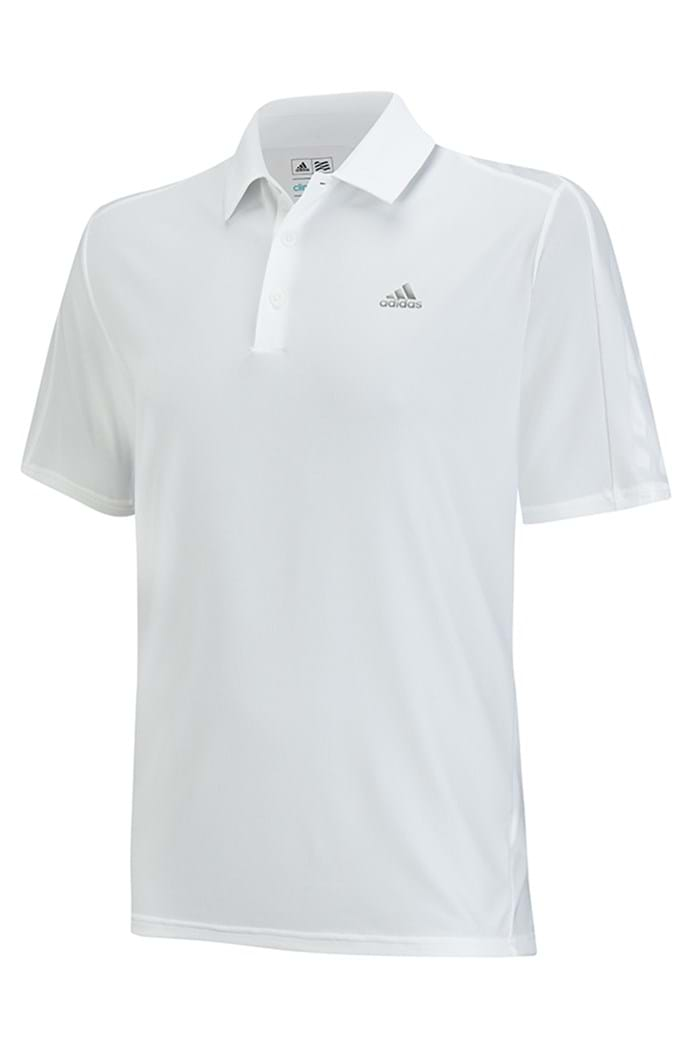 Picture of Adidas ZNS Climacool Classic Debos 3 Stripe Polo Shirt - White/Grey