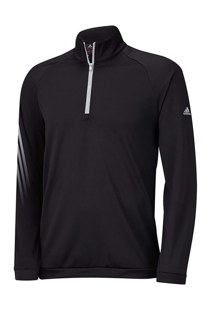 Picture of Adidas ZNS Junior 3 Stripes 1/2 Zip Sweater - Black/Grey
