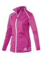 Picture of Sunderland of Scotland Annapurna Bonded Fleece Jacket - Magenta/White