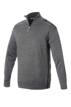 Picture of Sunderland of Scotland Pampero Lined Zip Neck Sweater - Grey/Lime
