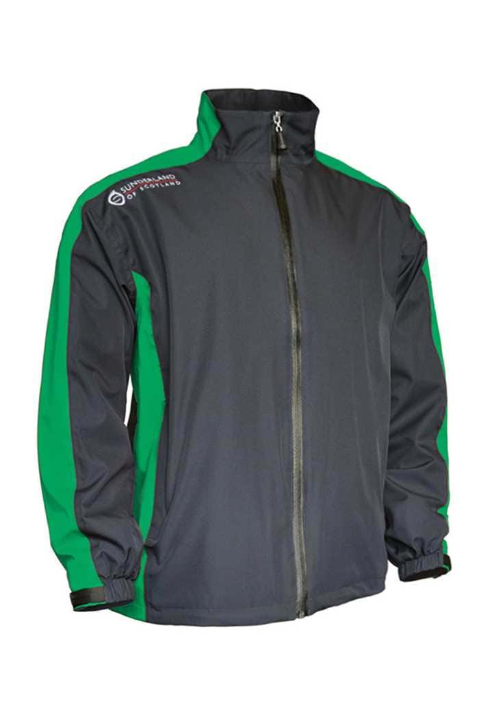 Picture of Sunderland of Scotland ZNS Vancouver Waterproof Jacket - Charcoal/Emerald.White