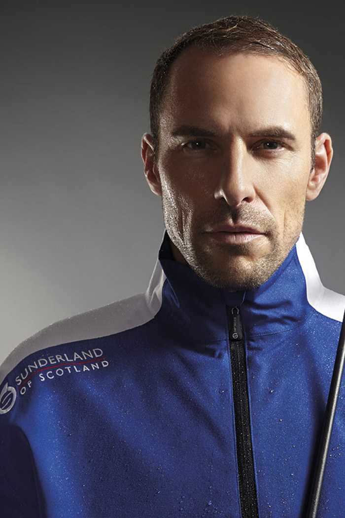 Picture of Sunderland ZNS of Scotland Vancouver Waterproof Weatherbeater - Electric Blue / White / Black