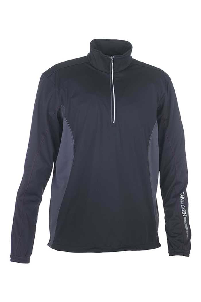 Picture of Galvin Green Brad 1/2 Zip Windstopper - Black/Gunmetal/White