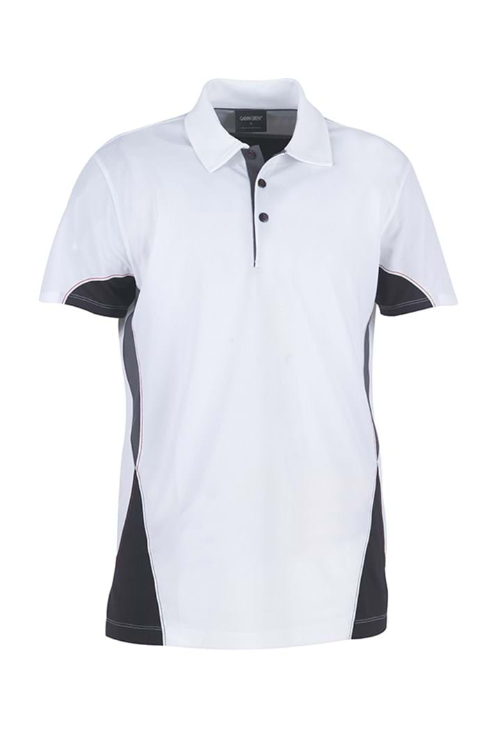 Picture of Galvin Green zns Maddox Ventil8 Polo Shirt - White/Black/Gunmetal