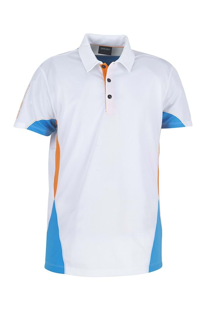 Picture of Galvin Green zns Maddox Ventil8 Polo Shirt - White/Summer Sky/Fire