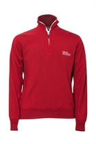 Picture of Oscar Jacobson Brett Tour Lined Sweater - Red - LAST ONE Med