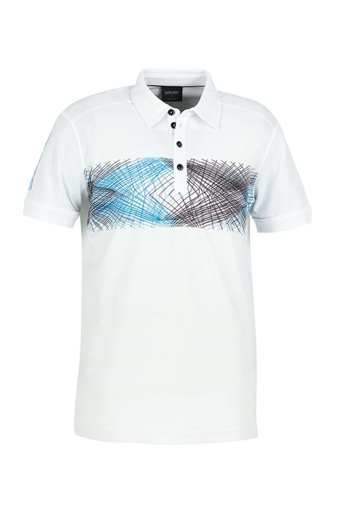 Picture of Galvin Green zns Mitch Polo Shirt - White/Summer Sky
