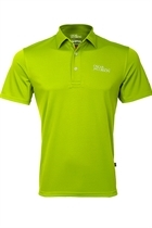Picture of Oscar Jacobson Collin Tour Polo Shirt - Lime - LAST FEW