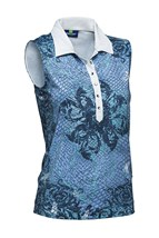 Picture of Daily Sports zns Serenity Sleeveless Polo Shirt - Spa Blue - LAST ONE SMALL