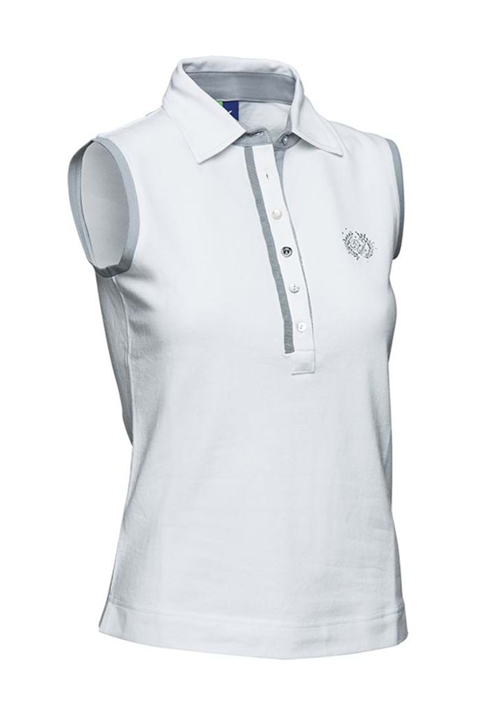 Picture of Daily Sports ZNS Shea Sleeveless Polo Shirt with embroidery - White - LAST TWO