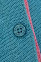 Picture of Green Lamb zns Cilla Crested Polo Shirt - Teal/White