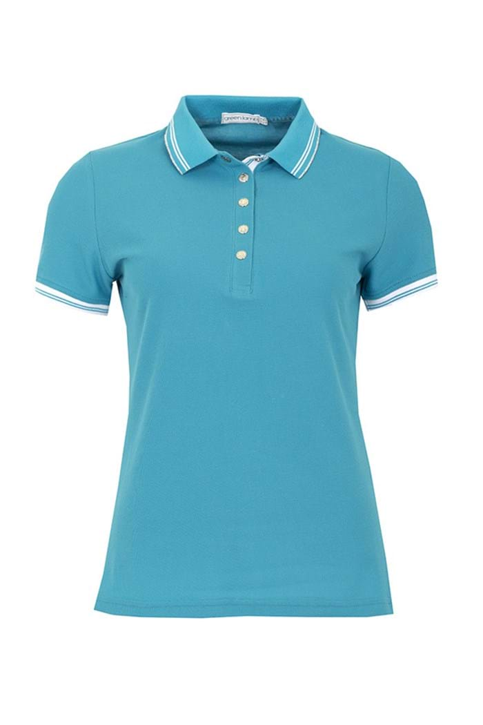 Picture of Green Lamb zns Claudine Club Polo Shirt - Teal