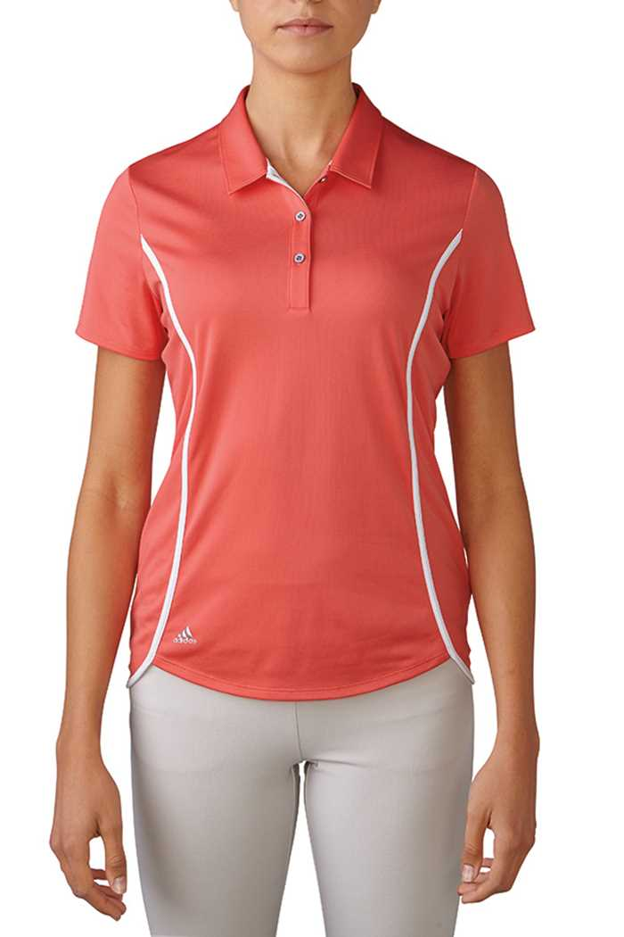 Picture of adidas zns Climachill Polo Shirt - Sunset Coral / White