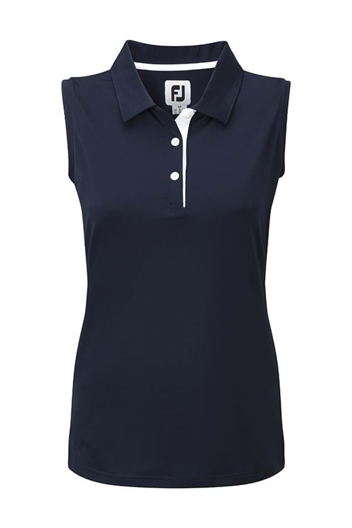 Picture of Footjoy ZNS Lisle Sleeveless Polo Shirt - Navy