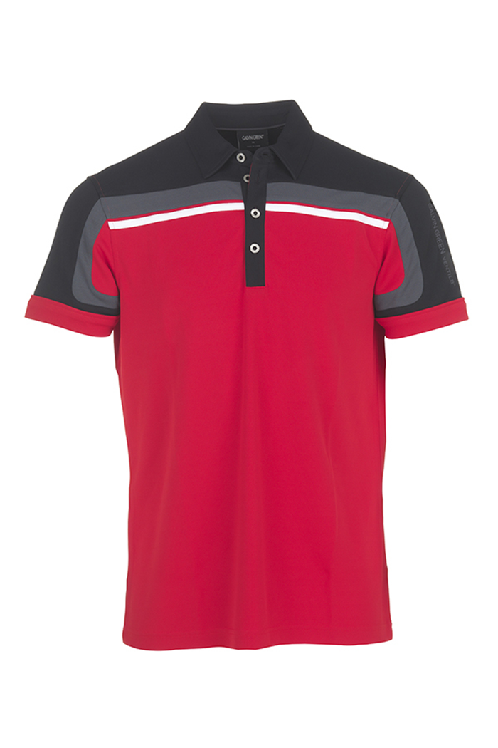latest selection of 2019 online here latest fashion Galvin Green zns Macoy V8 Polo Shirt - Electric Red/Black