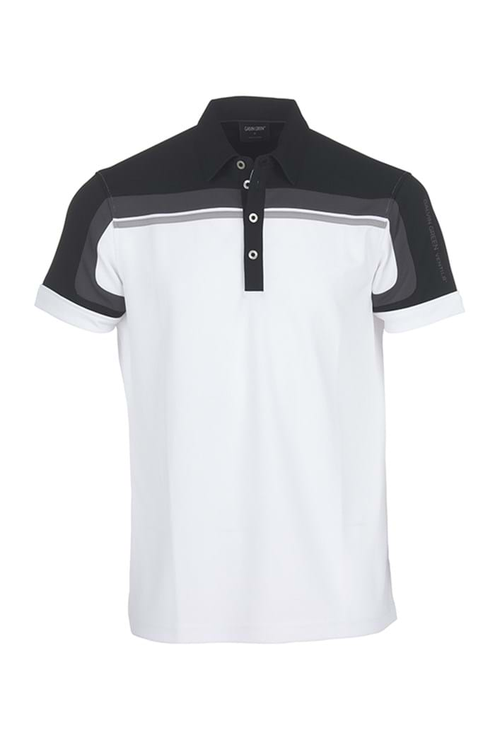 Picture of Galvin Green zns Macoy V8 Polo Shirt - White/Black/Iron