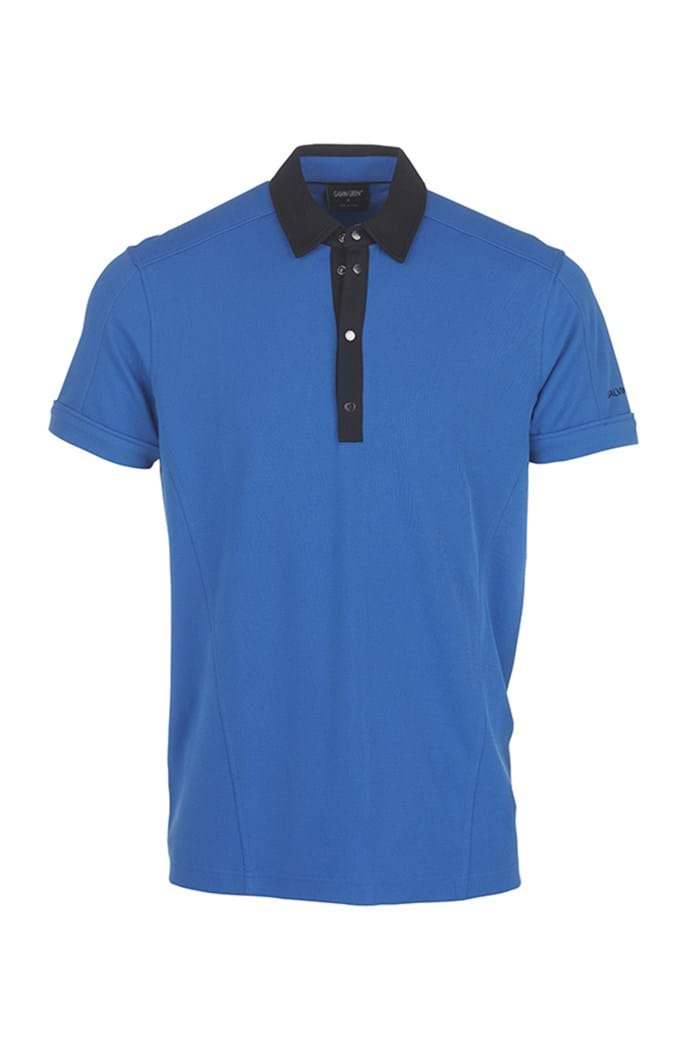 Picture of Galvin Green zns Major Polo Shirt - Imperial Blue/Black
