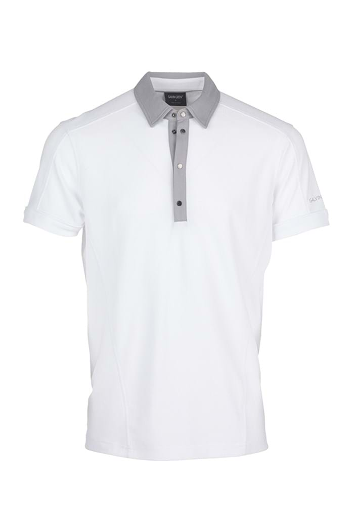 Picture of Galvin Green ZNS Major Polo Shirt - White/Steel Grey - LAST ONE S