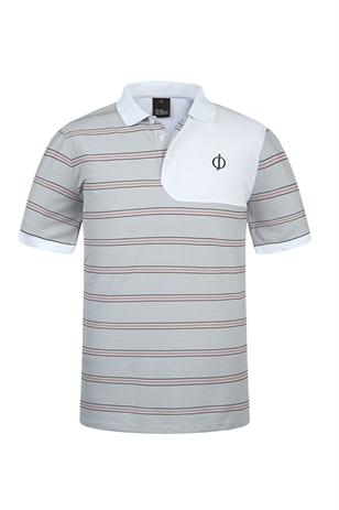 Picture of Oscar Jacobson Lyndon Polo Shirt - Light Grey