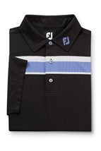 Picture of Footjoy ZNS Double Chest Stripe Polo Shirt - Black/White/Purple/Grey