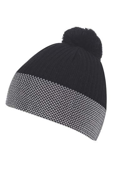 c1c470e5df6 Galvin Green ZNS Bobble Hat - Black   Iron   White - Galvin Green - Eureka  Golf