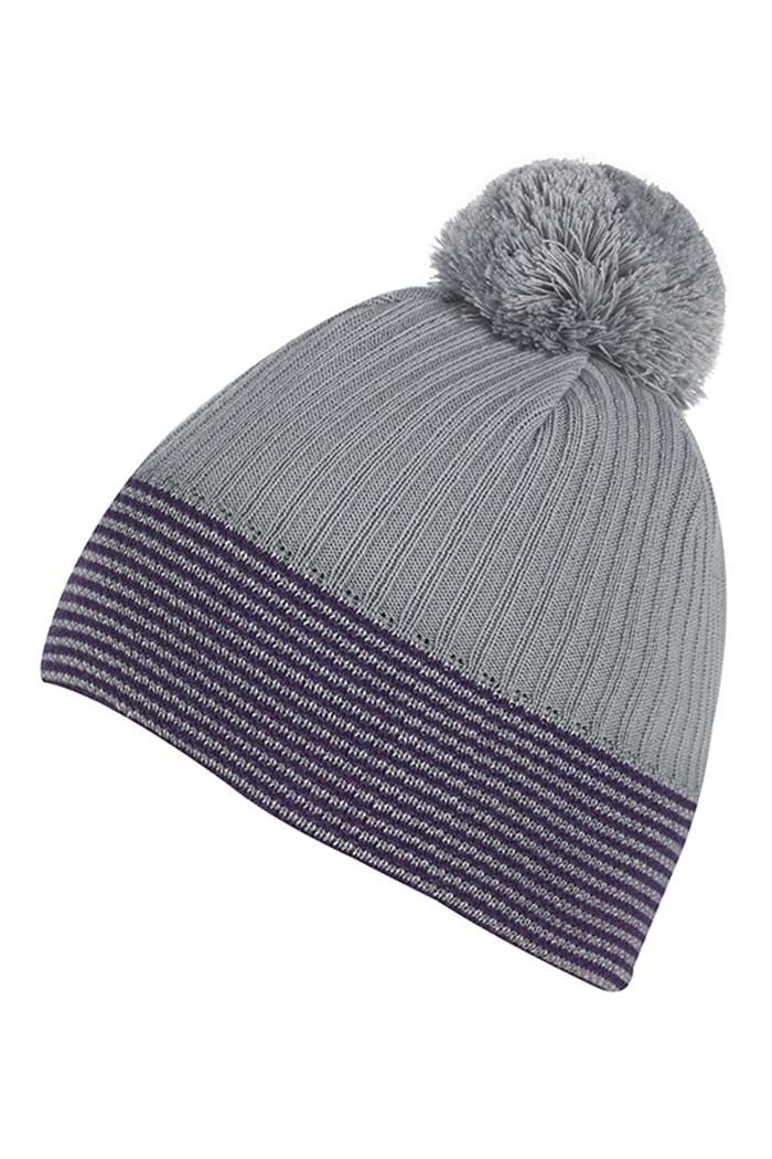 Picture of Galvin Green zns Bobble Hat - Steel/Plum/White