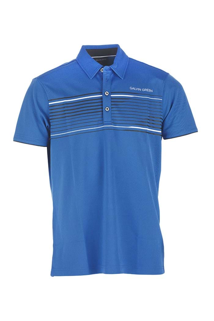 Picture of Galvin Green zns Mercury Golf Shirt - Imperial Blue/Black/White