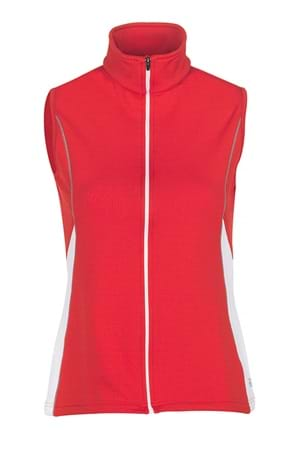 Picture of Galvin Green Dixy Bodywarmer/Gilet - Lipgloss/White/Steel